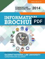 Infomation Brochure CLAT-2014