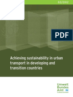 Achieving Sustainability in Urban Transport in Developing and Transition Countries