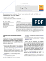 Carbon Abatement Potential of Solar Home Systems in India and Their Cost Reduction Due to Carbon Finance