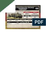 Team Yankee - Unit Card - Bundeswehr - Fuchs Panzeraufklärungskompanie HQ