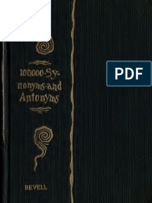 100000 Antonyms and synonyms pdf