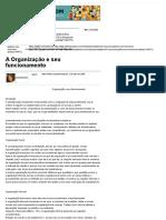 A Organização e Seu Funcionamento - Artigos - Tecnologia - Administradores