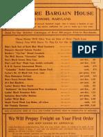 (1905) Baltimore Bargain House Catalogue