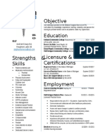 2017 nurse resume