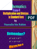 Multiplication and Division of Std Form