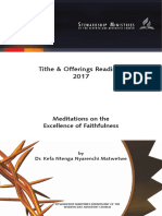 Tithe & Offerings Readings 2017