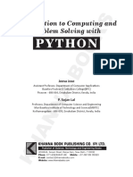 Introduction to computing and problem solving with Python.