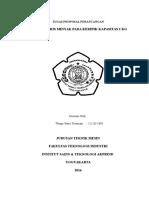 Proposal Perancangan Mesin Peniris Minyak
