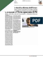 """""""La Regione rinvii la riforma dell'Ersu"""" - Il Resto del Carlino del 7 febbraio 2017"""