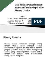 Audit Terhadap Siklus Pengeluaran-Pengujian Substantif Terhadap Saldo Utang Usaha