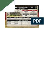 Team Yankee - Unit Card - Bundeswehr - M113 Panzergrenadierzug