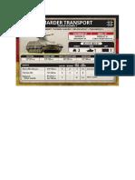 Team Yankee - Unit Card - Bundeswehr - Marder Transport