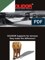 Solidor reguleeritavad terrassijalad kataloog