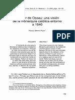 Una Vision de La Monarquía Católica en Torno a 1640
