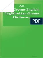 An AfanOromo English English AfanOromo Dictionary