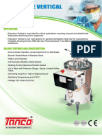 Vertical Sterilizer - Manufacturer -  Supplier -  Tanco Autoclave - New Delhi, India