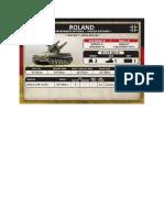 Team Yankee - Unit Card - Bundeswehr - Roland Flarakpanzerbatterie