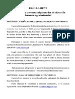 Regulament de participare la concursul planurilor de afaceri în domeniul agroturismului