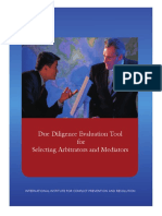 Due Diligence Evaluation Tool