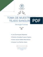 Toma de Muestra de Tejido Sanguineo ((Practica 1))