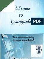 Selenium Training Instittue Marathahalli