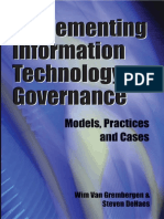 Implementing Information Technology Governance - Models, Practices, And Cases