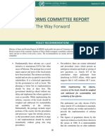 FATA Reforms Committee Report
