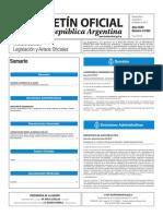 Boletín Oficial de la República Argentina, Número 33.562. 08 de febrero de 2017