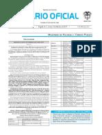 Diario oficial de Colombia n° 50.139. 06 de febrero de 2017