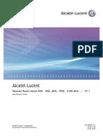 21 (Alcatel-Lucent Remote Radio Head 40W - 850, AWS, 1900 , 2100 MHz - Maintenance Guide) 4.05 Standard June 2010