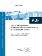 Charter of European Council for Education on Democratic Citizenship