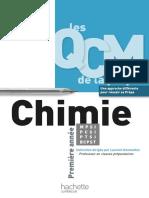 QCM Chimie