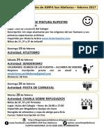 Talleres Febrero 2017 AMPA San Ildefonso