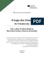 O Lago dos Cisnes de Tchaikovky – Sob o olhar de Mark Helprin, Mercedes Lackey e Darren Aronofsky