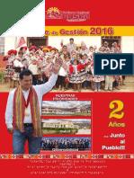 Revista Informe de Gestion 2016 - Gobierno Regional Cusco