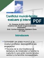 Workshop Conflict Munca-familie 2012