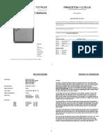 Princeton 112 Plus Service Manual