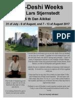 Lars Stjernstedt Sensei Uchi Deshi Weeks in Gotland, Sweden August 2017