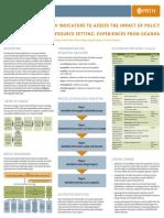 Developing Indicators for Advocacy Impact- Asinguza Allan Peter AEA Posterl