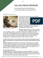 Entrevista Com Ana Maria Machado