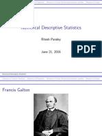 Numerical Desciptive Statistics