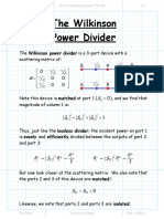 The Wilkinson Power Divider 723