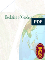 Evolution of Geodesy