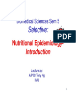 Microsoft PowerPoint - SELECTIVE BiomedSc 2014 Intro Nutritional Epidemiology [Compatibility Mode]