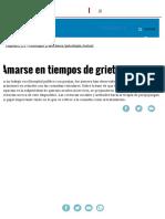 Amarse en Tiempos de Grieta _ Página12 _ La Otra Mirada