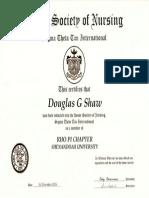 sigma theta tau certificate