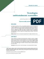 tecnologia ambiental sostenible