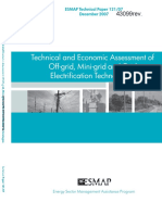 Technical and Economic Assessment of Off-grid, Mini-grid and Grid Electrification Technologies
