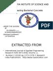self healing Bacterial Concrete