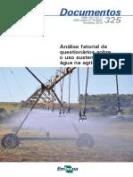 Analise Fatorial de Questionarios Sobre o Uso Sustentavel Da Agua Na Agricultura